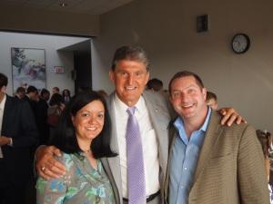 Lincoln, Amanda and Senator Manchin at Taste of West Virginia, Washington, DC
